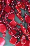 Rode mooie parels Royalty-vrije Stock Afbeeldingen