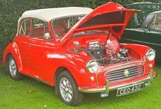Rode Morris 1000 zachte tpauto. royalty-vrije stock fotografie