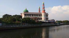 Rode Moskee in Bangkok, Thailand stock video