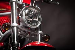 Rode motorfiets royalty-vrije stock afbeeldingen