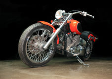 Rode motorfiets stock foto's