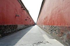Rode muren royalty-vrije stock afbeelding
