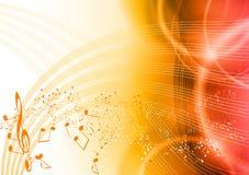 Rode muziek Stock Afbeeldingen