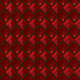 Rode naadloze vierkante patroonachtergrond Royalty-vrije Stock Afbeelding