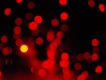 Rode nachtlichten met lage diepte van gebied bokeh Royalty-vrije Stock Foto