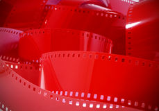 Rode negatieve film Stock Foto's