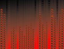 Rode neonachtergrond Stock Foto