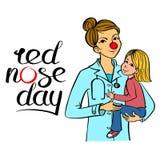 Rode neus arts vector illustratie