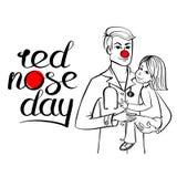 Rode neus arts royalty-vrije illustratie