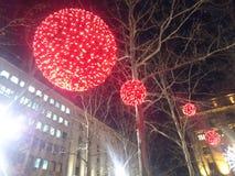 Rode nieuwe jarendecoratie Royalty-vrije Stock Afbeeldingen