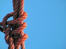 Rode nylon kabel   Stock Afbeeldingen