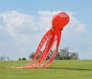 Rode octopusvlieger Royalty-vrije Stock Afbeeldingen