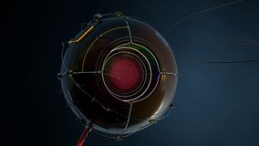 Rode ogen robotachtige grote broer royalty-vrije illustratie