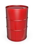 Rode olietrommel stock illustratie