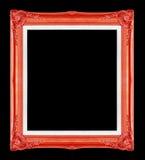 Rode omlijstingen Geïsoleerde op zwarte achtergrond Stock Foto
