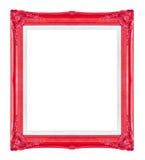 Rode omlijstingen Geïsoleerde op zwarte achtergrond Stock Fotografie