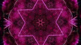 Rode omwentelings abstracte die achtergrond uit vele kleine elementen wordt samengesteld stock video