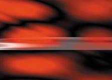 Rode onduidelijke beelden op zwarte achtergrond Royalty-vrije Stock Afbeelding