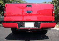 Rode oogstvrachtwagen Stock Foto's
