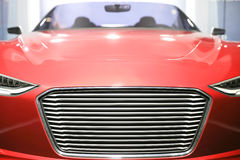 Rode open tweepersoonsauto Stock Afbeelding