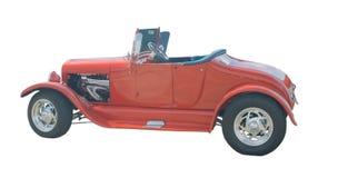 Rode open tweepersoonsauto Royalty-vrije Stock Foto's