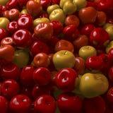 Rode, oranje appelen Stock Foto's
