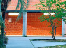 Rode oranje bakstenen muur Royalty-vrije Stock Foto's