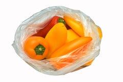 Rode, oranje en gele minipaprika Stock Foto's