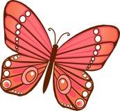 Rode oranje Vlinder vector illustratie