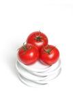 Rode organische druiventomaten Stock Foto's