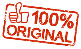 rode ORIGINELE zegel 100% Stock Foto