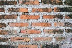 Rode oude bakstenen muur Stock Afbeelding