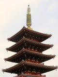 Rode pagode Royalty-vrije Stock Afbeeldingen