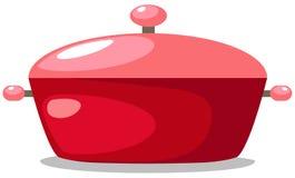 Rode pan vector illustratie