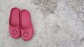 Rode pantoffel royalty-vrije stock foto's