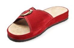 Rode pantoffel Stock Foto