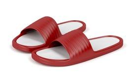 Rode pantoffels Royalty-vrije Stock Afbeeldingen