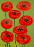 Rode papavers Royalty-vrije Stock Foto's