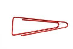 Rode paperclip Royalty-vrije Stock Afbeeldingen