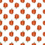 Rode paprika's die patroon herhalen stock afbeelding