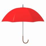 Rode paraplu vector illustratie