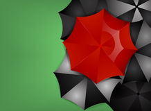 Rode Paraplu stock illustratie