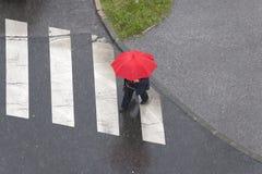 Rode Paraplu royalty-vrije stock foto's