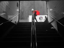 Rode Paraplu Royalty-vrije Stock Afbeelding