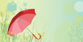 Rode Paraplu Royalty-vrije Stock Foto