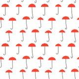Rode Paraplu's - naadloze patroonversie 3 vector illustratie