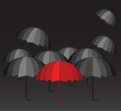 Rode parapluleider Royalty-vrije Stock Afbeelding
