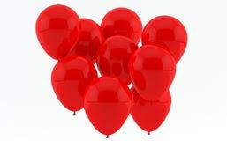 Rode partijballons Stock Foto's
