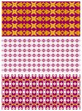 Rode patronen en ontwerpen reeks Royalty-vrije Stock Fotografie