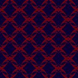 Rode patronen op donkerblauwe achtergrond Naadloos patroon Abstracte vector stock illustratie